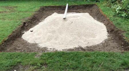 Sandkasten-Bau